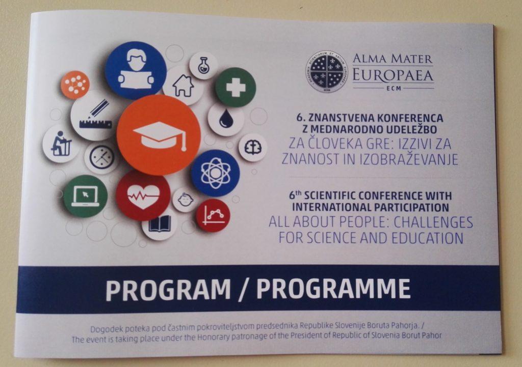 Udeležba na mednarodni znanstveni konferenci – ALMA MATER EUROPEA