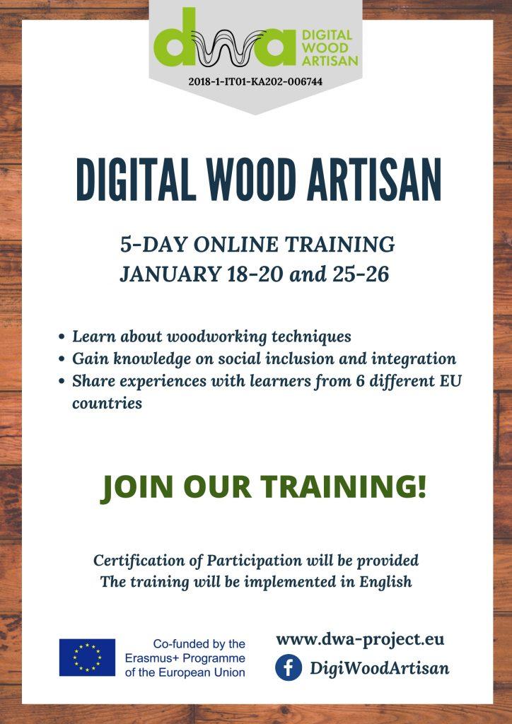 DWA – Digital Wood Artisan  – Online usposabljanje